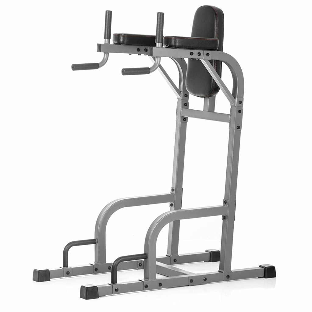 Vertical Knee Raise with Dip and Push Up Station by Xmark Fitness
