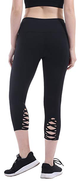 Pocketed Capri Yoga Pants for Women by Heat Move